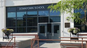 Downtown School entrance.