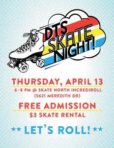 DTS Skate Night poster.
