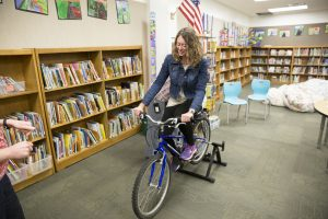 Mrs. Clark rides the smoothie cycle