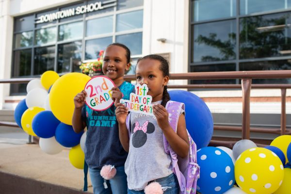 Enjoy Photos of First Day of 2019-20 at Downtown School